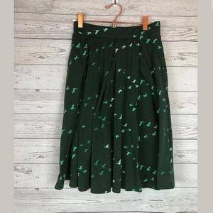 LuLaRoe size xs Madison skirt green birds